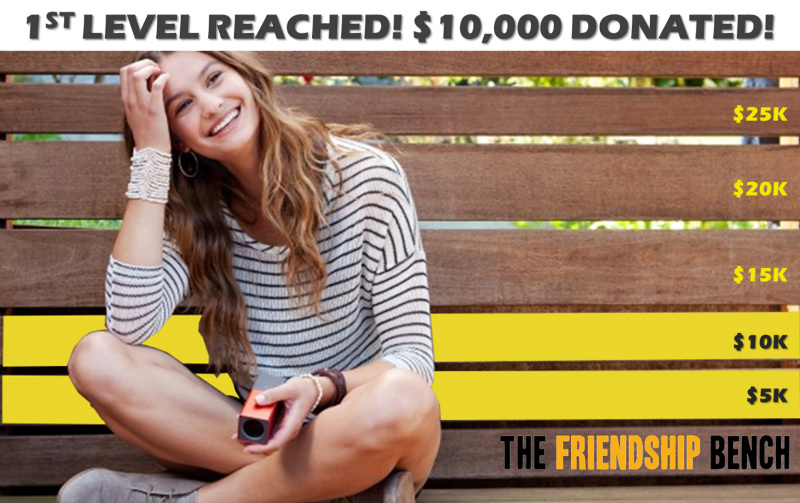 The Friendship Bench Achieves First Fundraising Target