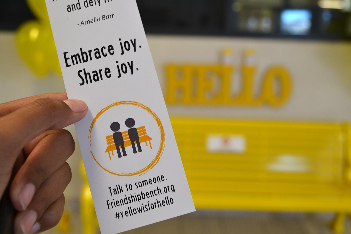 The Friendship Bench   #YellowIsForHello