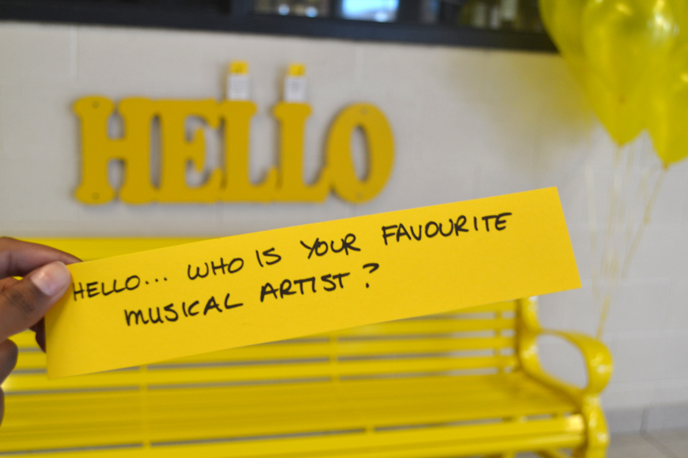 The Friendship Bench | #YellowIsForHello