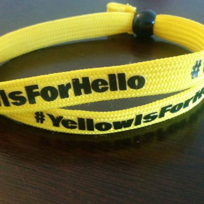 YellowIsForHello wrist band