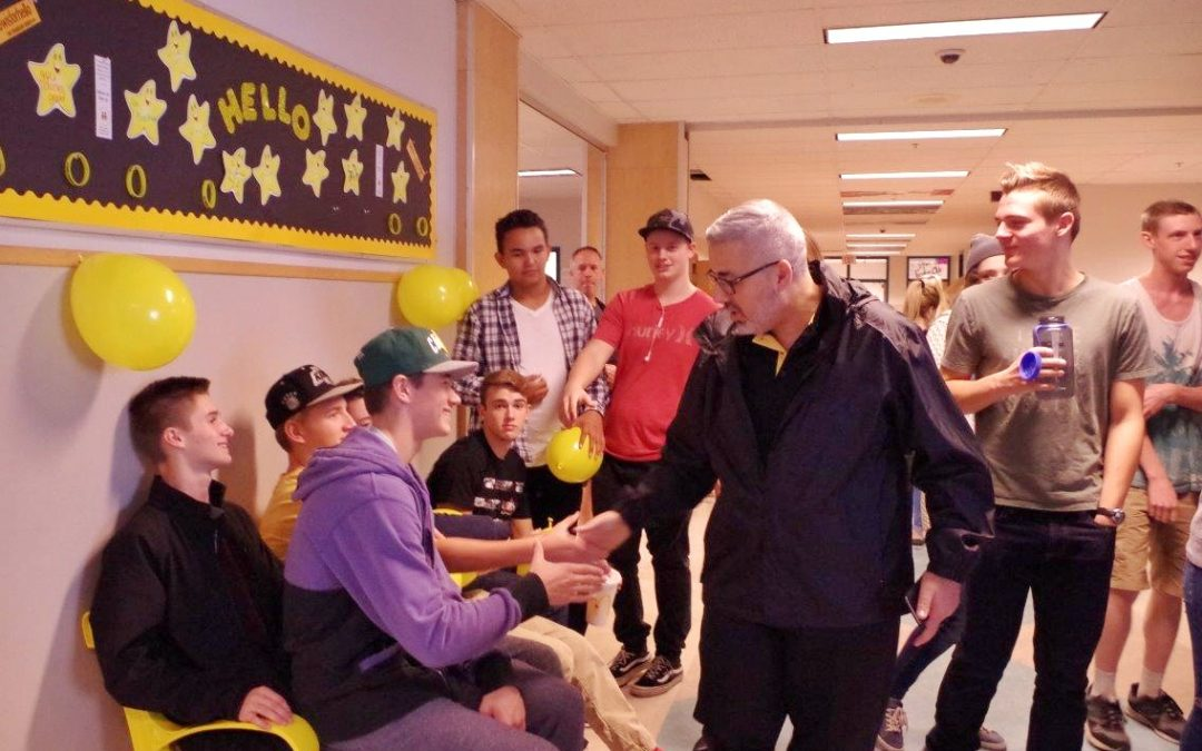 Western Canada Secondary School Unveils Friendship Bench