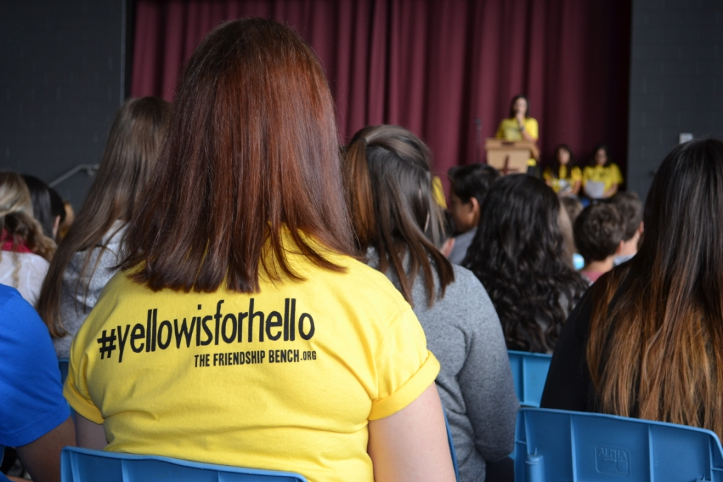 The Friendship Bench | #YellowIsForHello St. Mary's College