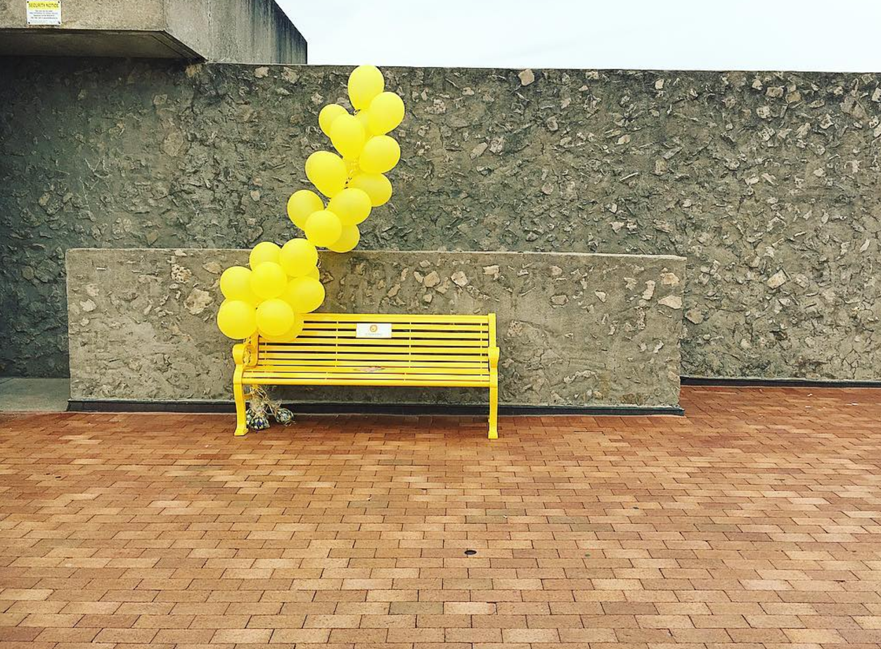 The Friendship Bench #YelllowIsForHello Trent University