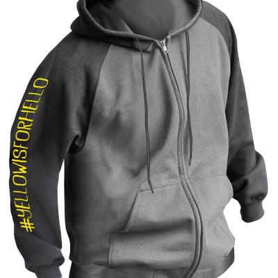Yellow is for Hello zip hoodie
